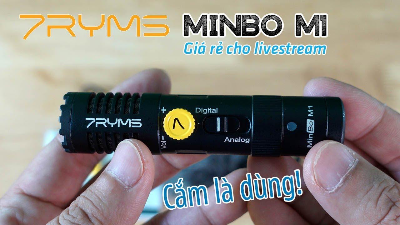 7RYMS MINBO M1 | Micro quay phim giá rẻ Digital Analog dưới 1 triệu cho dân livestream