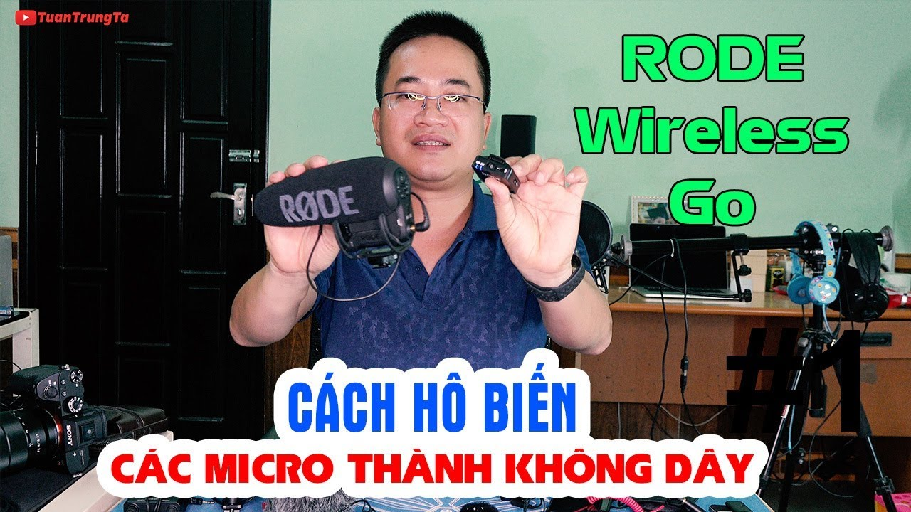 """Cách """"Hô Biến"""" tất cả thành Micro thu âm không dây giá rẻ siêu gọn với RODE Wireless Go"""