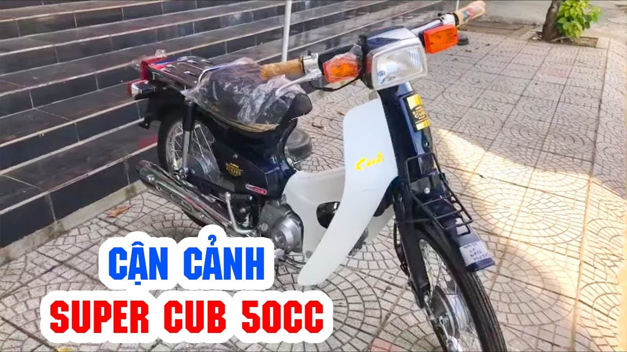 Cận cảnh Super Cub 50cc ▶ Xe máy nhỏ nhắn xinh xắn dành cho học sinh