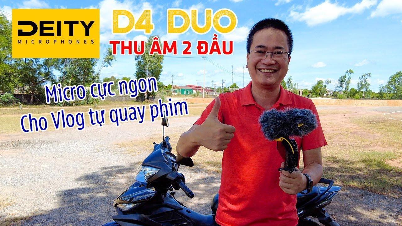 DEITY D4 DUO   Micro thu âm làm Youtube và Vlog chuẩn cho ai tự quay 1 mình
