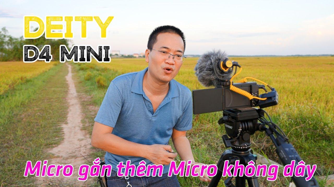 DEITY D4 MINI   Micro có thể gắn thêm Micro không dây cùng lúc dành cho Vlog Đời Sống