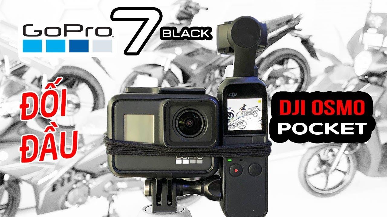 DJI Osmo Pocket vs GoPro 7 Black ▶ Long Hổ quyết đấu: 4K Video, Audio, Lowlight, Gimbal