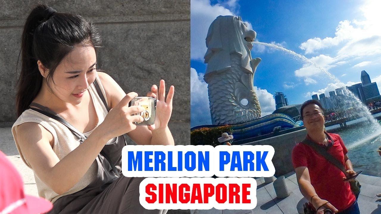 DU LỊCH SINGAPORE ▶ Đi dạo ngắm gái cực xinh tại Công viên Sư tử biển MerLion Park
