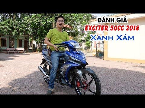 Exciter 50cc 2018 Xanh Xám ▶ Đánh giá chi tiết màu áo mới!