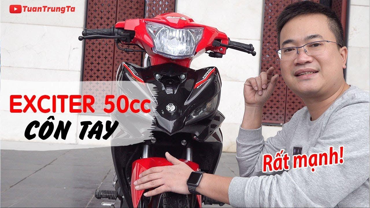 Exciter 50cc Côn Tay ▶ Đánh giá chi tiết Người Anh Em của Exciter 2019