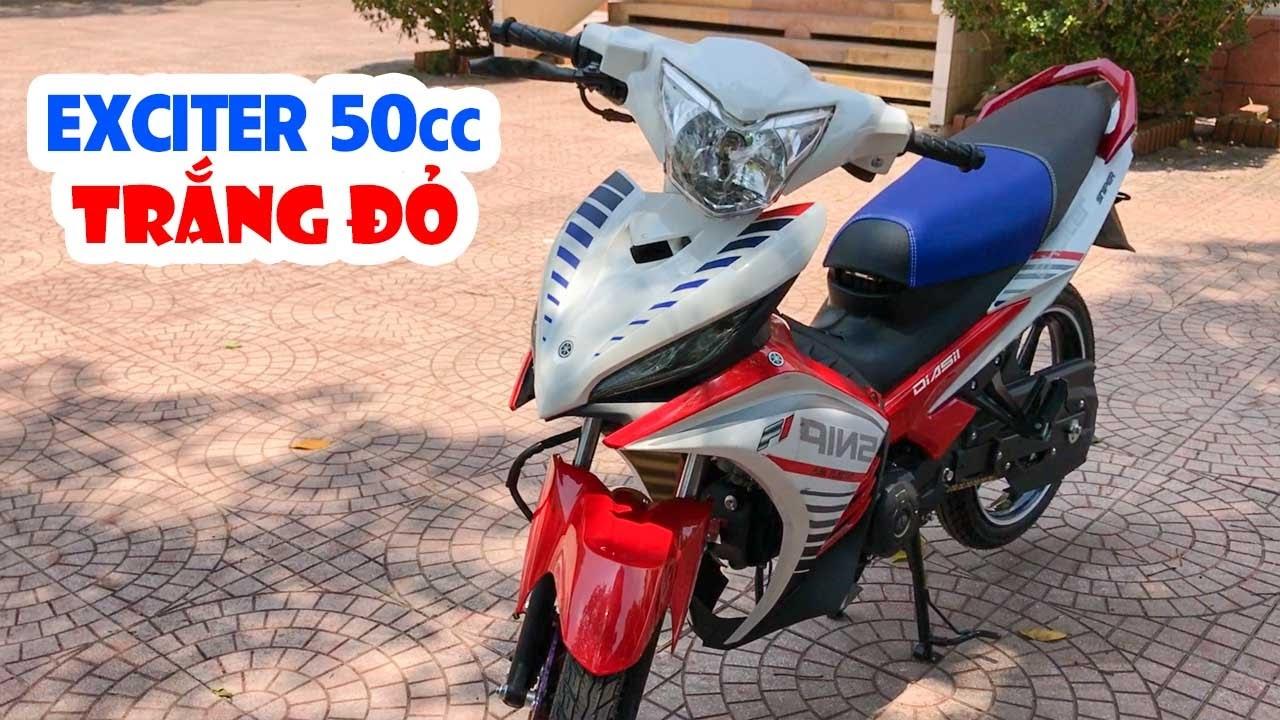 Exciter 50cc kiểu 135cc 2011 ▶ Trắng Đỏ chứng tỏ rất ngầu!