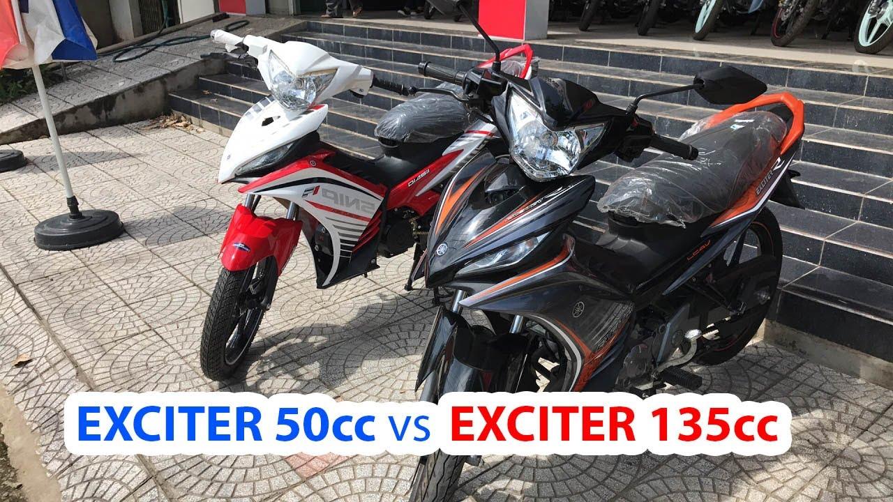 Exciter 50cc vs Exciter 135cc ▶ So sánh cùng thần tượng!