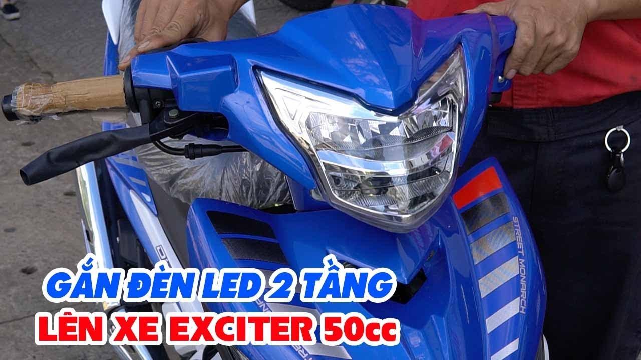 Gắn đèn LED 2 tầng ZHIPAT của Exciter 135cc lên Exciter 50cc ▶ Sáng ngon!