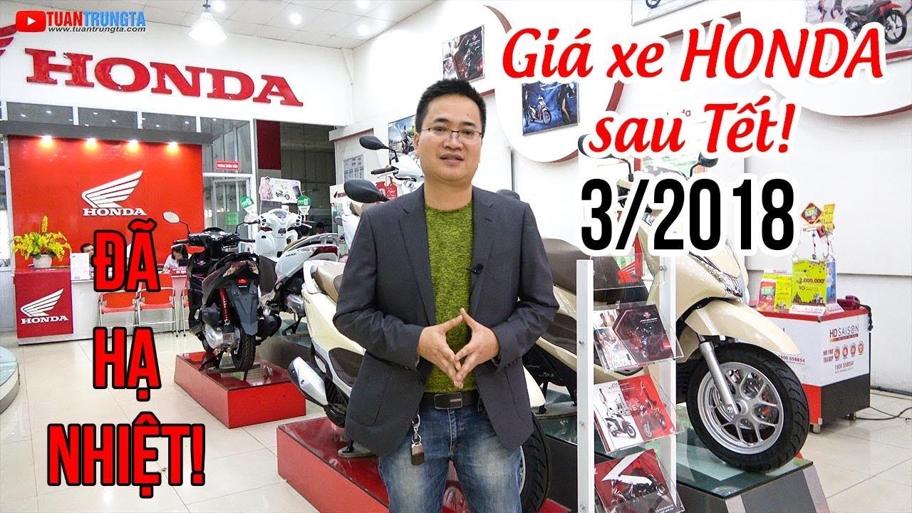 Giá xe máy Honda tháng 3/2018: Winner 150 còn ít, Air Blade, SH Mode, Vision vẫn cao!