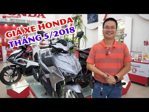 Giá xe máy Honda tháng 5/2018: Winner 150 khá hiếm, Air Blade, SH Mode, Lead vẫn bán tốt!