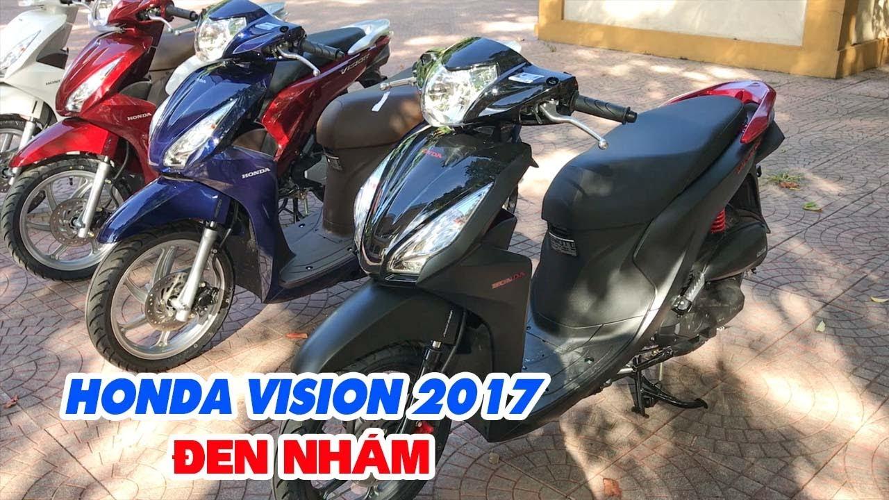 Honda Vision 2017 Đen Nhám ▶ Đánh giá Xe tay ga bán chạy nhất hiện nay