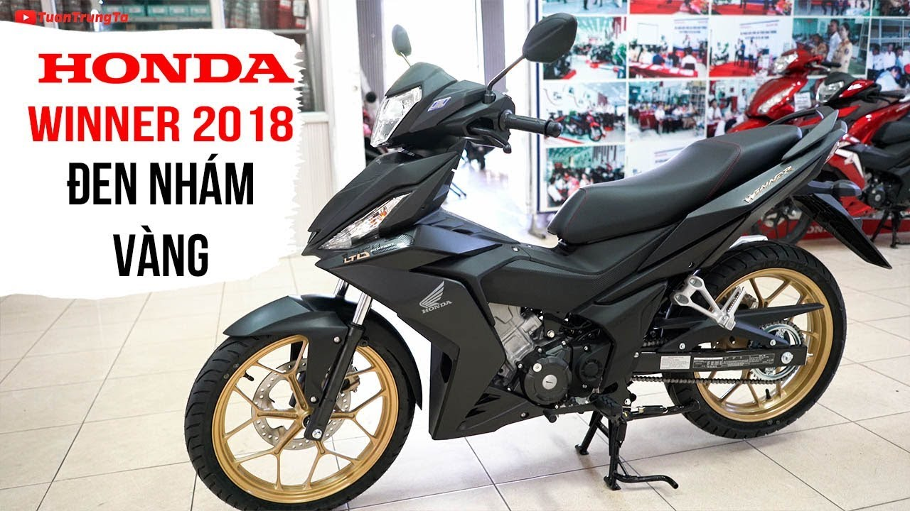 Honda Winner 150 2018 Đen Nhám Đặc Biệt Vàng Ánh Kim ▶ Tổng quan sản phẩm