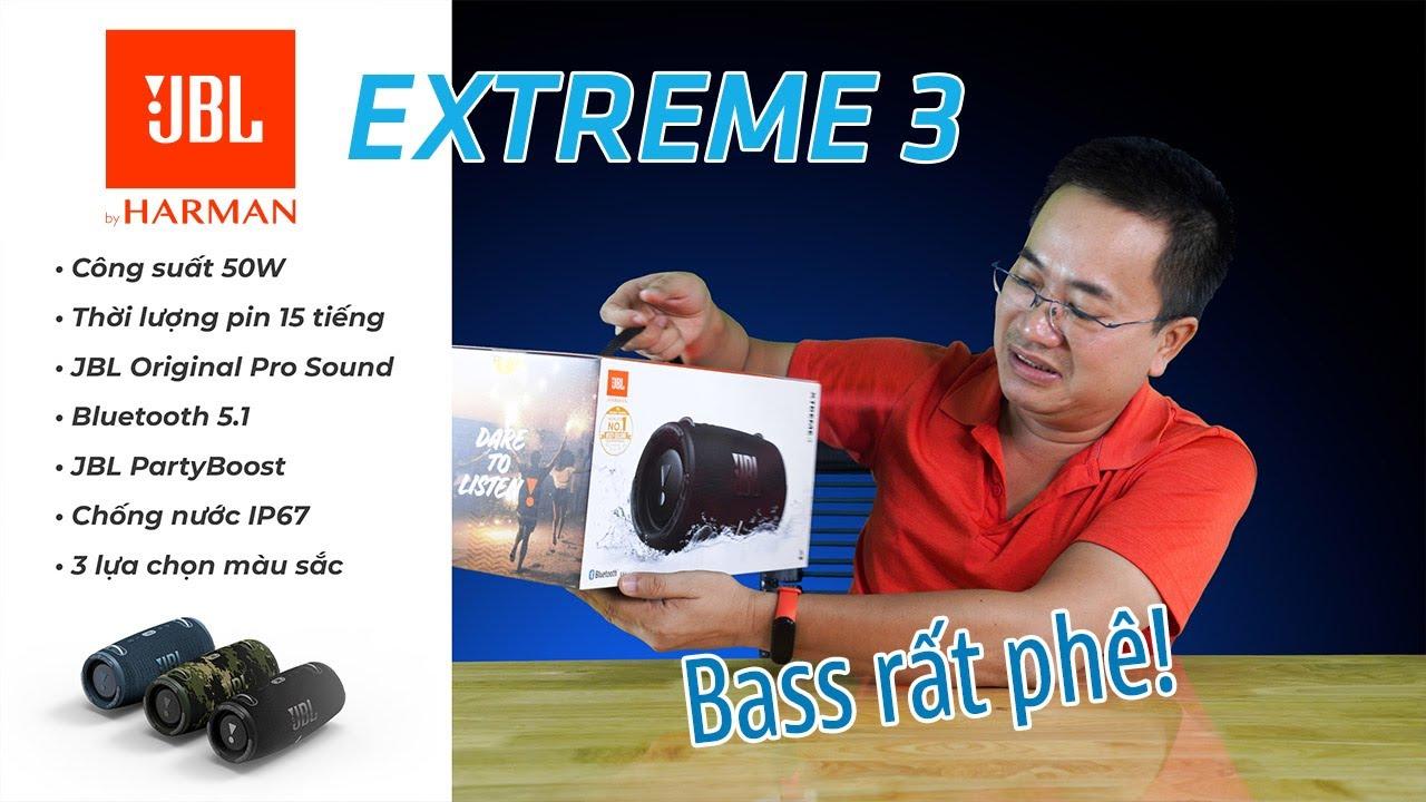 Loa di động JBL EXTREME 3 | Như cái Trống Cơm mà Bass đánh cực sâu