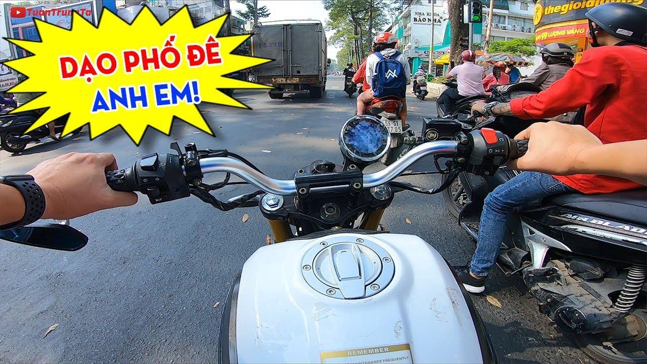 """Ngắm cuộc sống Sài Gòn cùng Ducati Scrambler Mini 110cc: Xe Moto mini giá rẻ """"cà phê ăn sáng"""""""