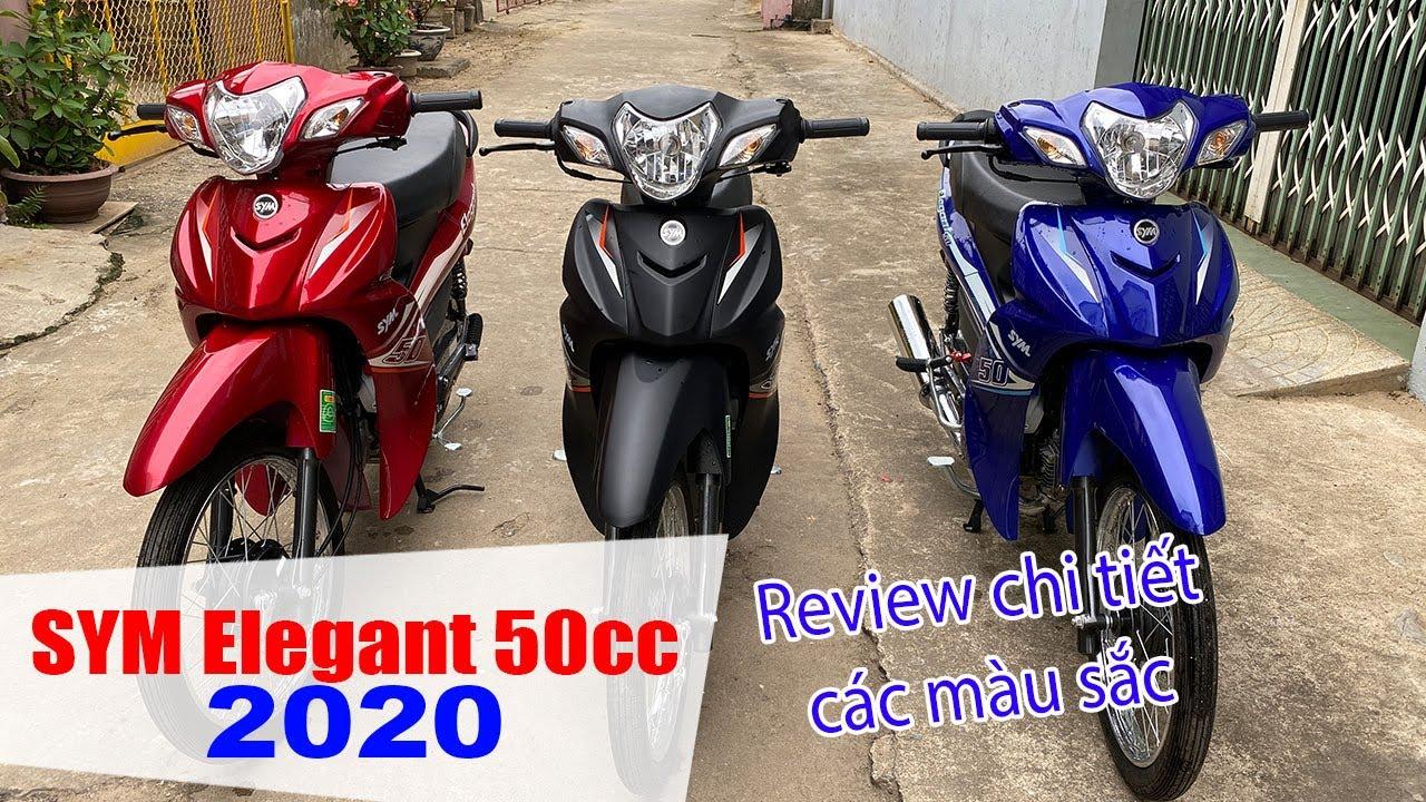 SYM ELEGANT 50CC 2020   Đánh giá cận cảnh 3 màu sắc mới ra mắt