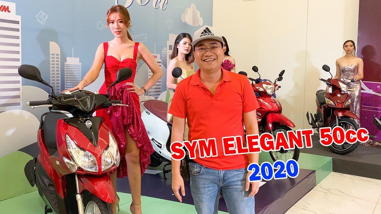 SYM Elegant 50cc 2020 ra mắt với kiểu dáng gọn hơn   Xe tay ga Atila 50cc và Passing 50cc khá lạ