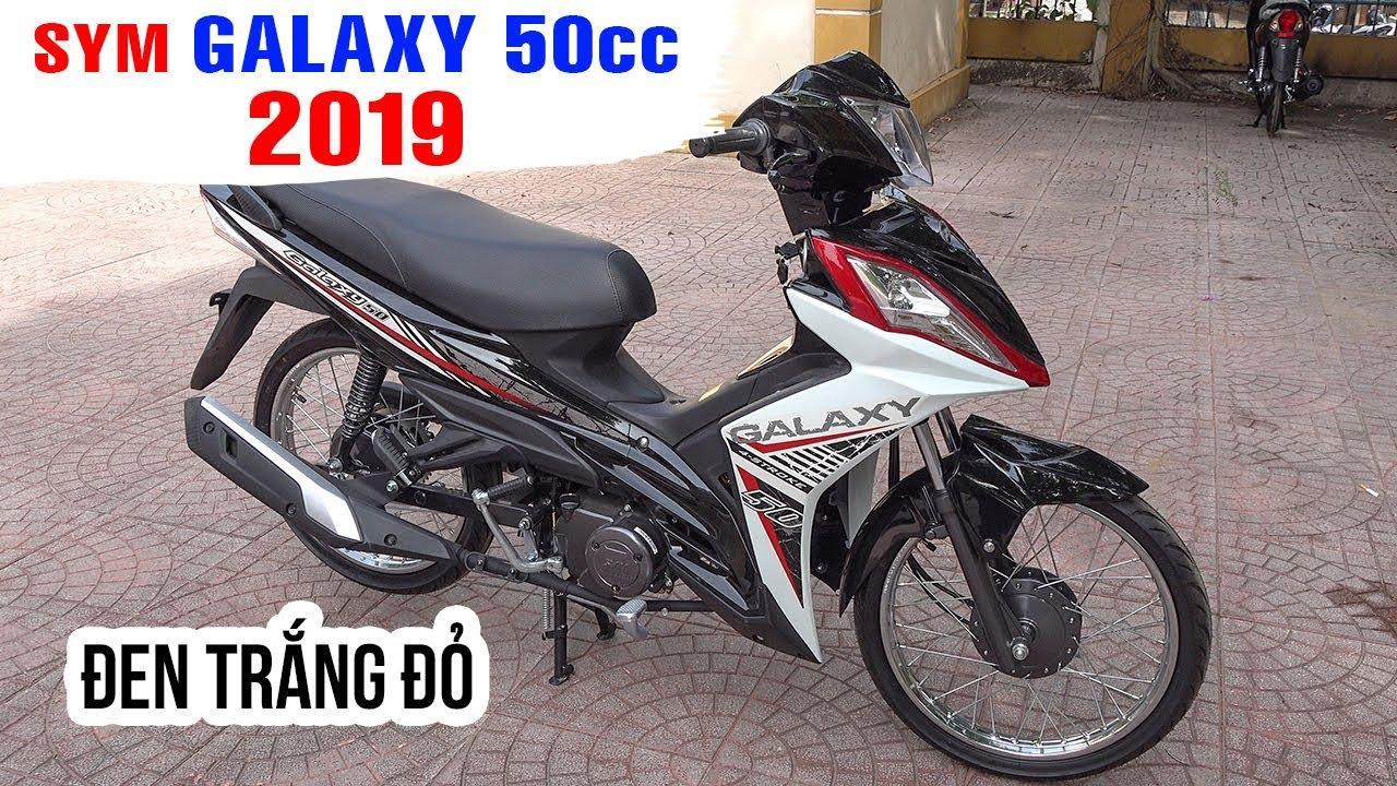 SYM Galaxy 50cc 2019 Đen Trắng Đỏ ▶ Kết quả cuộc tình Exciter và Winner