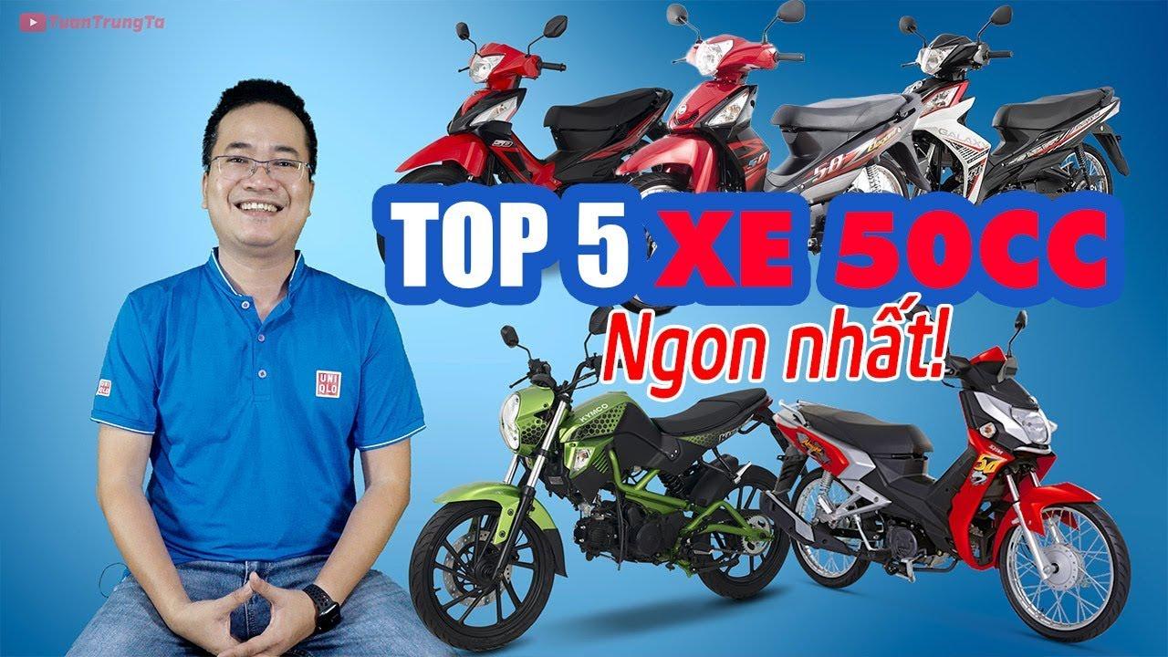 TOP 5 XE 50cc CHẤT LƯỢNG TỐT NHẤT DƯỚI 20 TRIỆU!