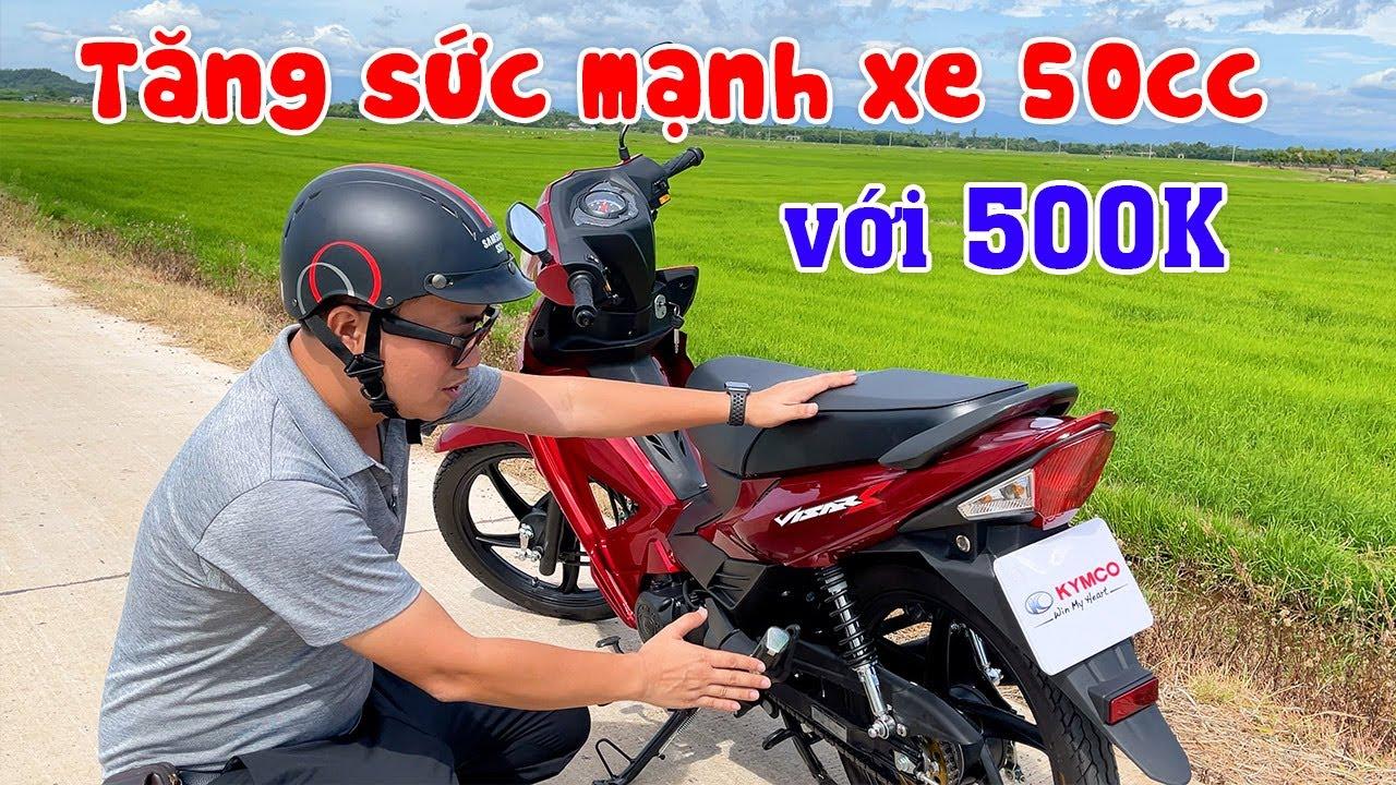 Hướng dẫn Độ xe 50cc chỉ với 500K chạy tít | Lên Nòng 60, Hạ Dĩa sau, Cắt quả ga